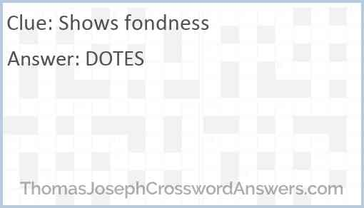 Shows fondness Answer
