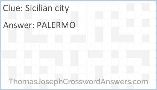 Sicilian city Answer