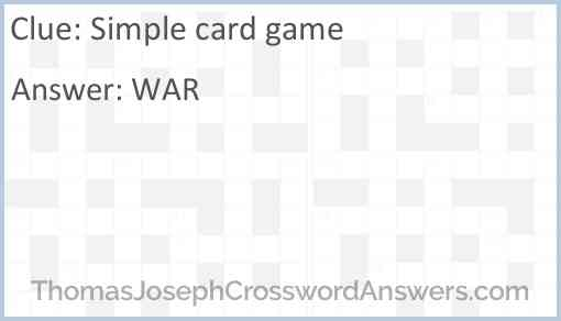 Simple card game Answer