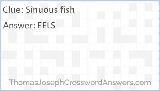 Sinuous fish Answer
