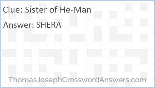 Sister of He-Man Answer