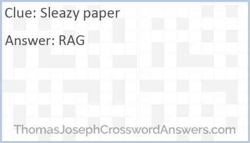 Sleazy paper Answer