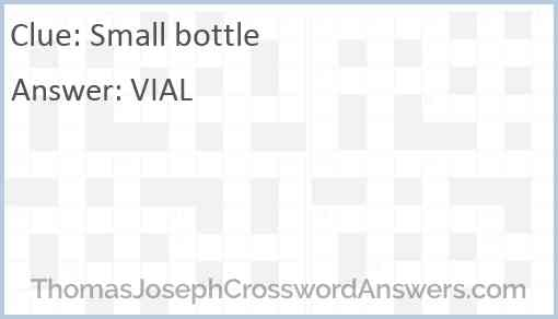 Small bottle Answer
