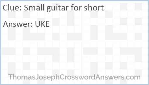 Small guitar for short Answer