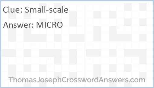 Small-scale Answer