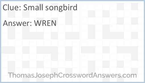 Small songbird Answer