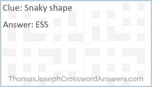 Snaky shape Answer