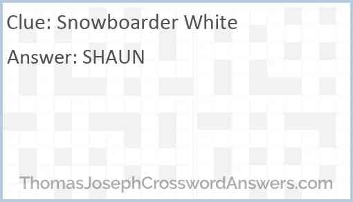 Snowboarder White Answer
