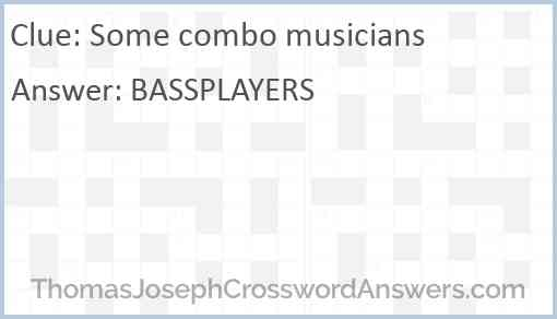 Some combo musicians Answer