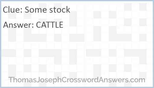 Some stock Answer