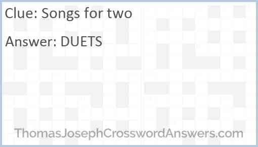 Songs for two Answer