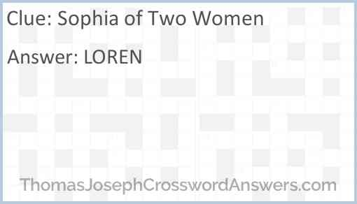 Sophia of Two Women Answer