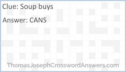 Soup buys Answer