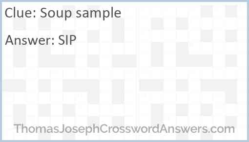 Soup sample Answer