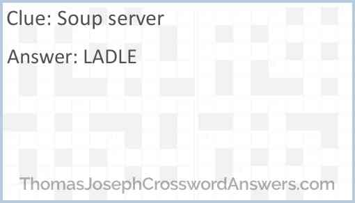 Soup server Answer