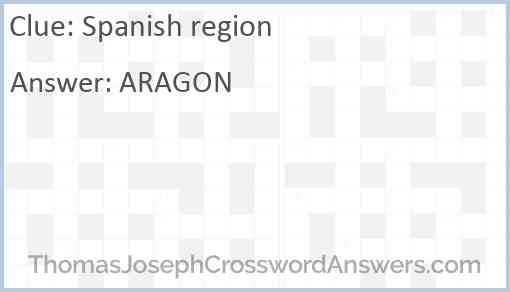 Spanish region Answer