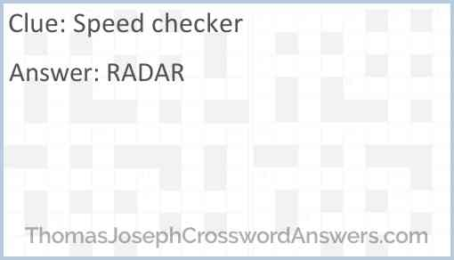 Speed checker Answer