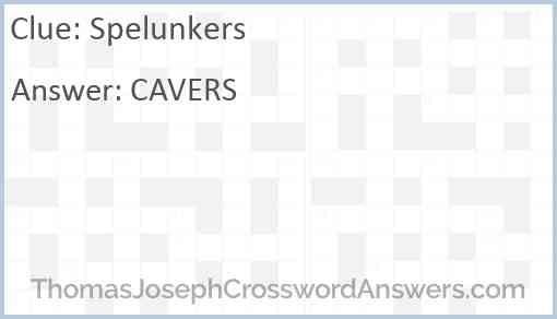 Spelunkers Answer