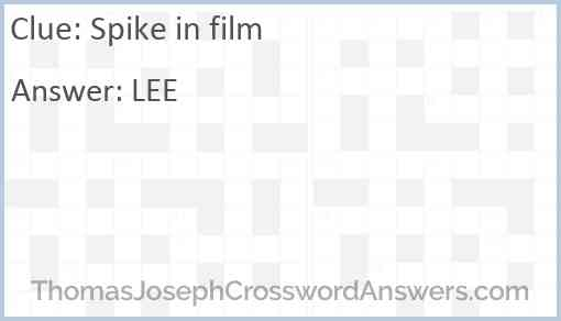 Spike in film Answer