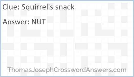 Squirrel's snack Answer