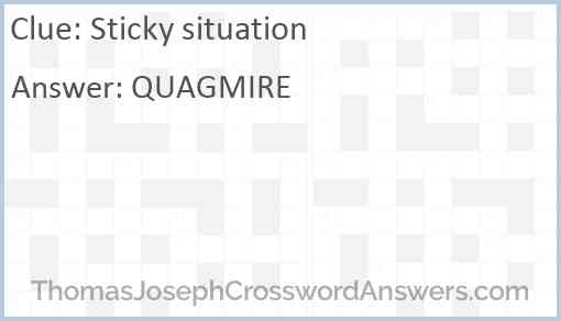 Sticky situation Answer
