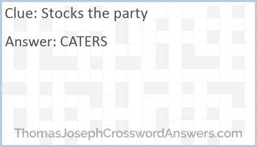 Stocks the party Answer