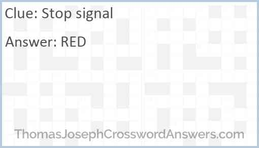 Stop signal Answer