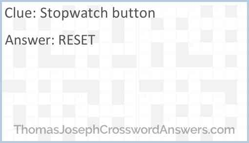 Stopwatch button Answer