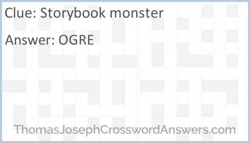 Storybook monster Answer