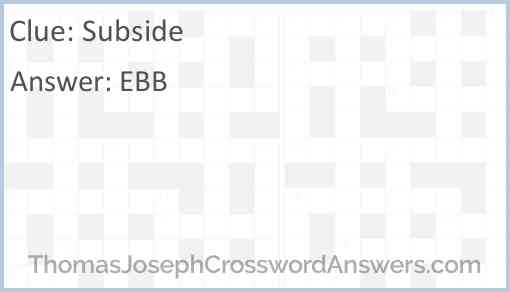 Subside Answer