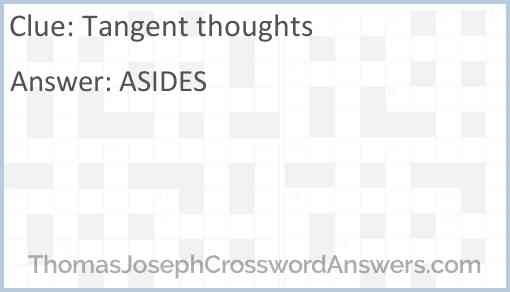 Tangent thoughts Answer