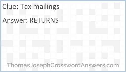 Tax mailings Answer