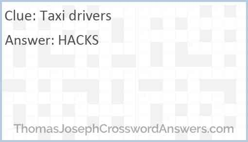 Taxi drivers Answer