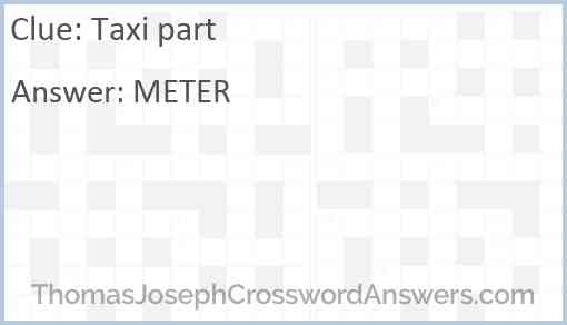 Taxi part Answer