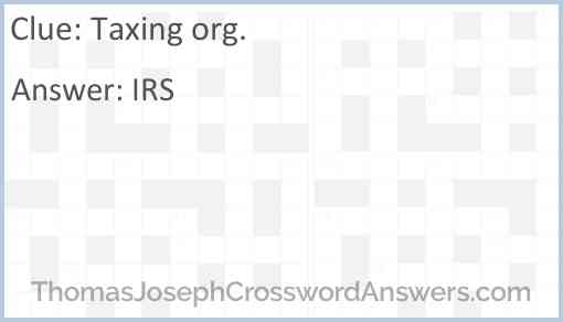 Taxing org. Answer