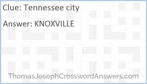 Tennessee city Answer