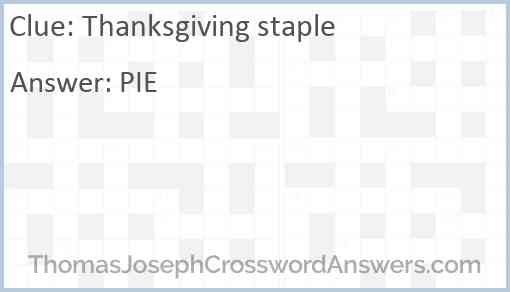 Thanksgiving staple Answer