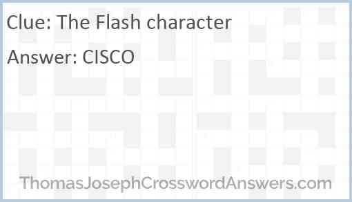 The Flash character Answer