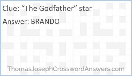 """""""The Godfather"""" star Answer"""