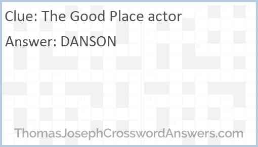 """""""The Good Place"""" actor Answer"""