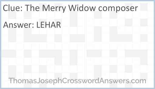 """The Merry Widow"" composer Answer"