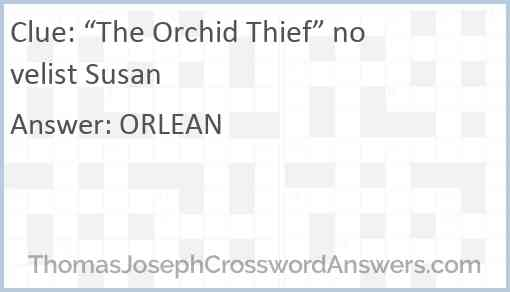 """""""The Orchid Thief"""" novelist Susan Answer"""