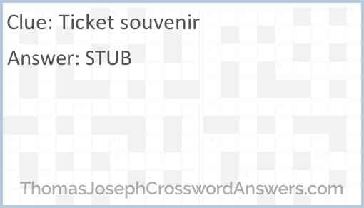 Ticket souvenir Answer