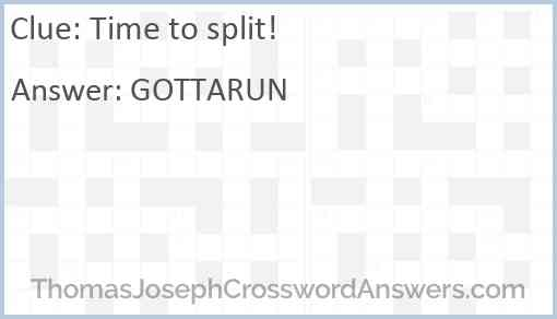"""""""Time to split!"""" Answer"""