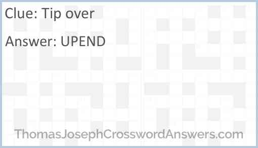 Tip over Answer