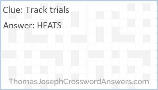 Track trials Answer