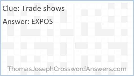 Trade shows Answer