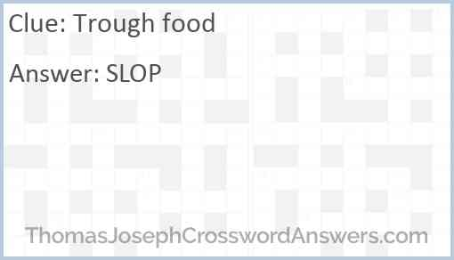 Trough food Answer