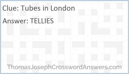 Tubes in London Answer
