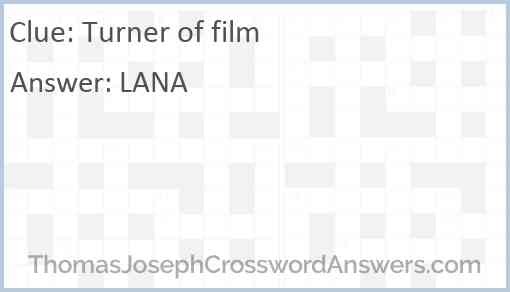 Turner of film Answer